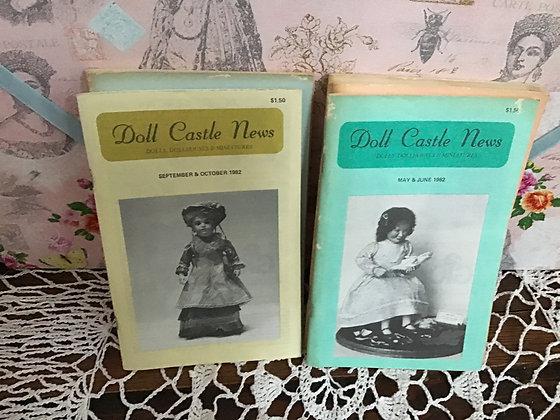 Vintage Doll Castle News Magazines