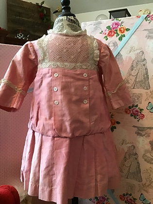 Vintage Large Pink Cotton Dress
