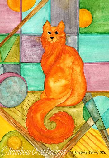 reduced Marmalade Cat 4.5x6.5 Ratio Sign