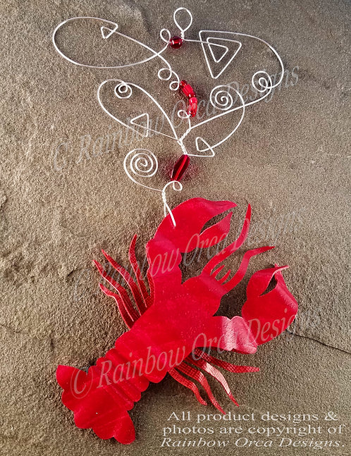Lobster Ornament Sculpture - Red