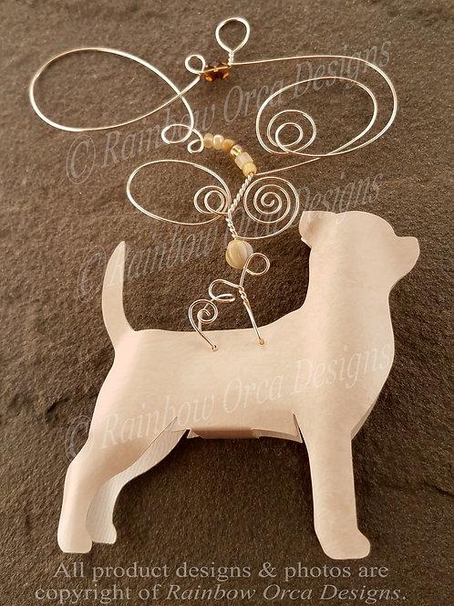 Dog: Chihuahua Ornament Sculpture - Cream/White