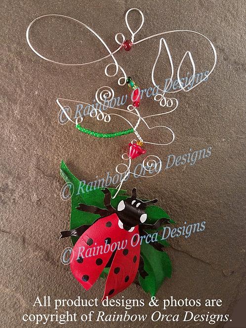 Ladybug Ornament Sculpture