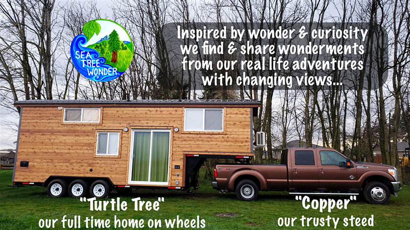 Tiny House & Truck Image with Text Turtl