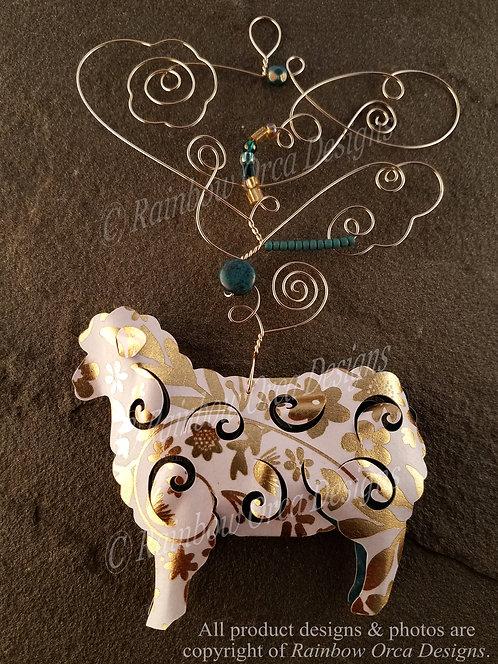 Sheep Ornament Sculpture - Gold Leaf