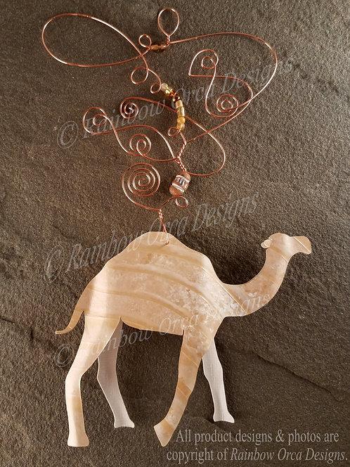 Camel Ornament Sculpture - Light Tan Cream