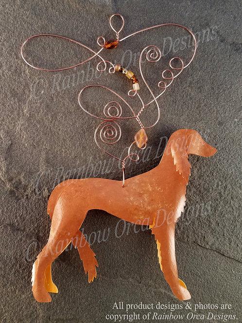 Dog: Saluki Ornament Sculpture - Deep Golden
