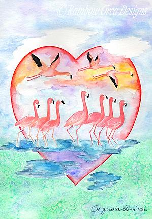 reduced Flamingo Flock of Love  ed 2020