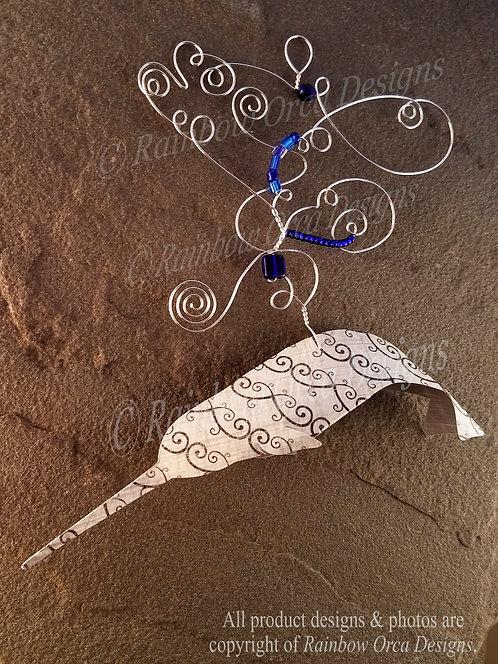 Narwhal Ornament Sculpture - Spiral Design