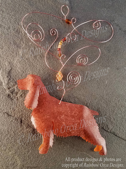 Dog: Spaniel Ornament Sculpture - Reddish Golden