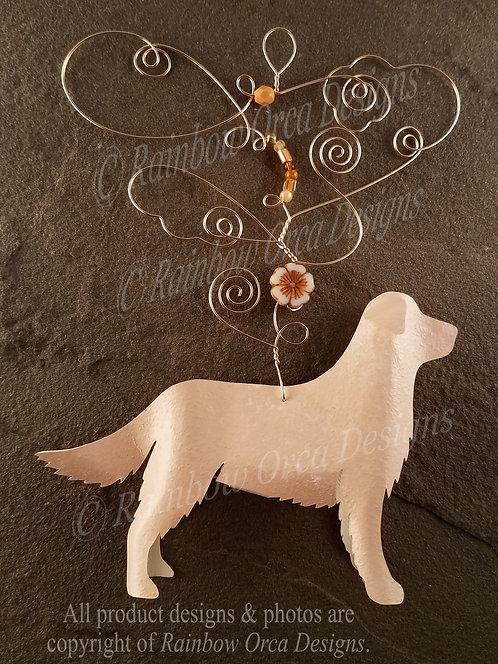 Dog: Golden Retriever Ornament Sculpture - Light