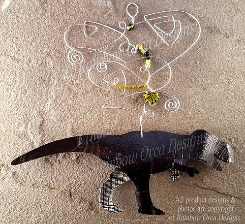 Tyrannosaurus Rex Ornament Sculpture - Black