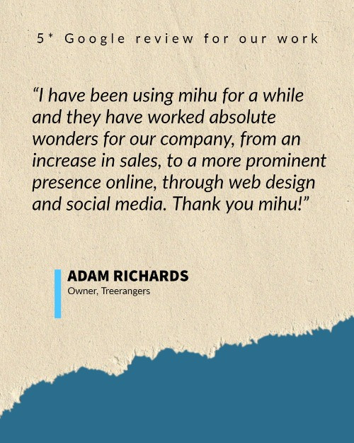 A glowing testimonial for mihu managed marketing