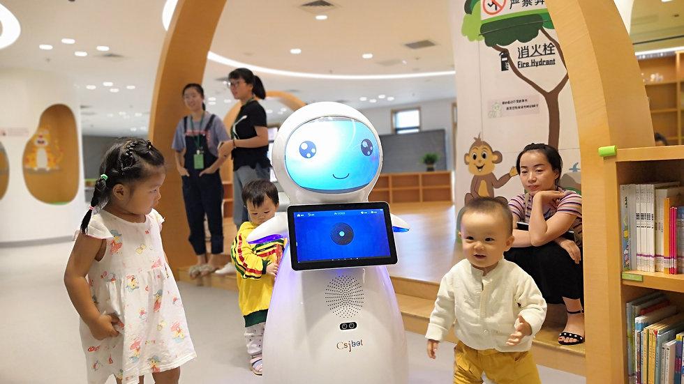 Snow-Humanoid Companion Education Robot