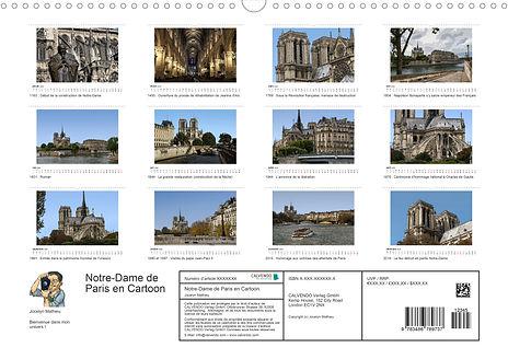 Calendrier Paris Cathédrale Notre-Dame France Jocelyn Mathieu Photographie Cartoon