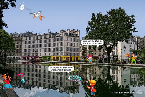 Canal Saint-Martin, Paris - France