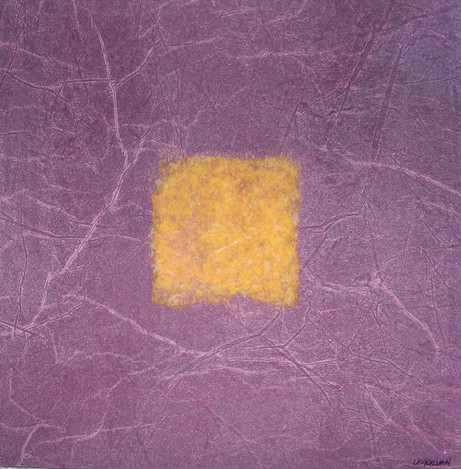 Sophie Le Morvan - Carré jaune sur fond violet