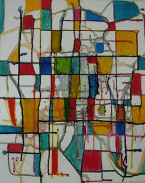 Gérard Blanc - Hommage à Mondrian