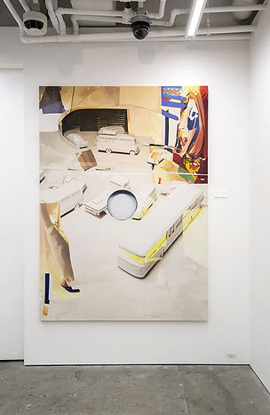artiste zoer zoerism peinture a l huile figurative route sans fin exposition galerie hidari zingaro takashi murakami japon