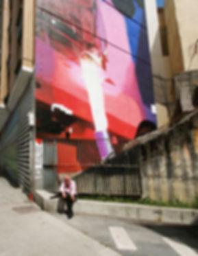 artiste zoer zoerism detail fresque mural de peinture acrylique spindle tribute urban art bilbao espagne 2016
