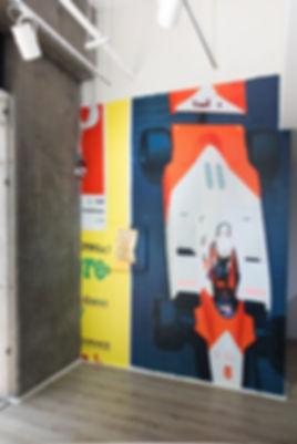 artiste zoer zoerism fresque mural peinture acrylique beton formule un sac en or vue exposition toba gallery mexico df 2017