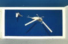 peinture mural artiste zoer de helicoptere submerge titre clock fait a acrylique armancette hotel chalet seint gervais 2019