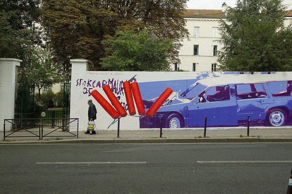 artiste zoer zoerism detail fresque mural art la voie garconniere carre baudouin paris soutien de artazoi urban art 2016