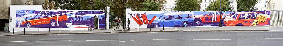 artist zoer zoerism fresque mural art la voie garconniere pavillon carre baudouin paris avec le soutien de artazoi 2016