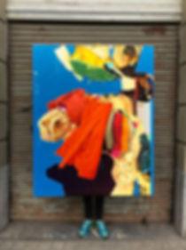 Artiste zoer zoerism peinture a l huile sur toile courants exposition la forme sc gallery bilbao Espagne 2018