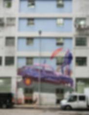artiste zoer zoerism fresque murale peinture acrylique de sainer sur epave de voiture hkwall hong kong china 2017