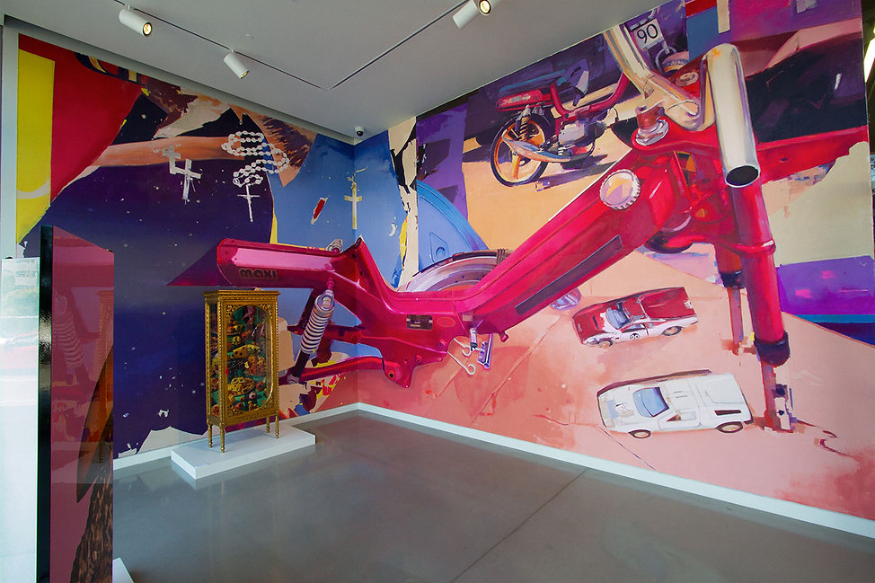 artist zoer zoerism mural peinture acrylique mobchop exposee pour juxtapoz x superflat curator takashi murakami seattle 2016