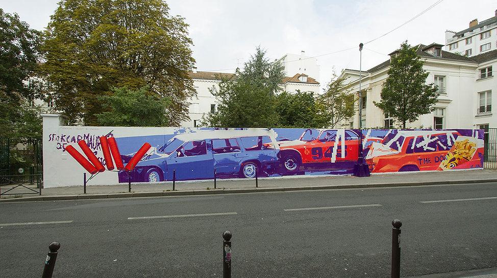 artiste zoer zoerism detail fresque mural art la voie garconniere pavillon carre baudouin paris soutien de artazoi 2016