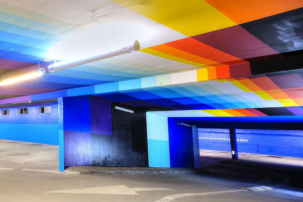 artiste zoer zoerism felipe pantone peinture plateforme art contemporain 2km3 saint gervais les bains france 2017