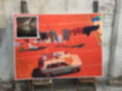 Artiste zoer zoerism sebas velasco acrylique sur toile figurative de voitures et avion idee objet magique barcelone