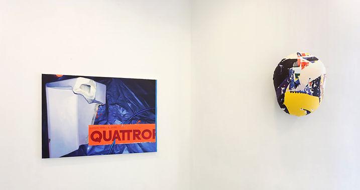 artiste zoer zoerism peinture a l huile sur toile et abstraite sur air bag exposition la forme sc gallery bilbao espagne 2018