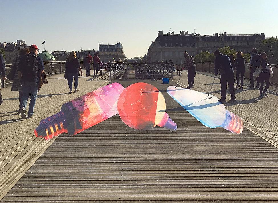artiste zoer zoerism installation artistique espace public anamorphose ampoules commande instagram we love art paris 2017