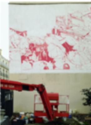 artist zoer zoerism esquisse fresque mural peinture acrylique realiste marche au mali les essences les plus cheres renne 2015