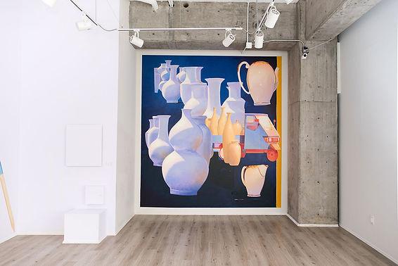 artiste zoer zoerism fresque mural peinture acrylique beton ceramique camion en or vue exposition toba gallery mexico df 2017
