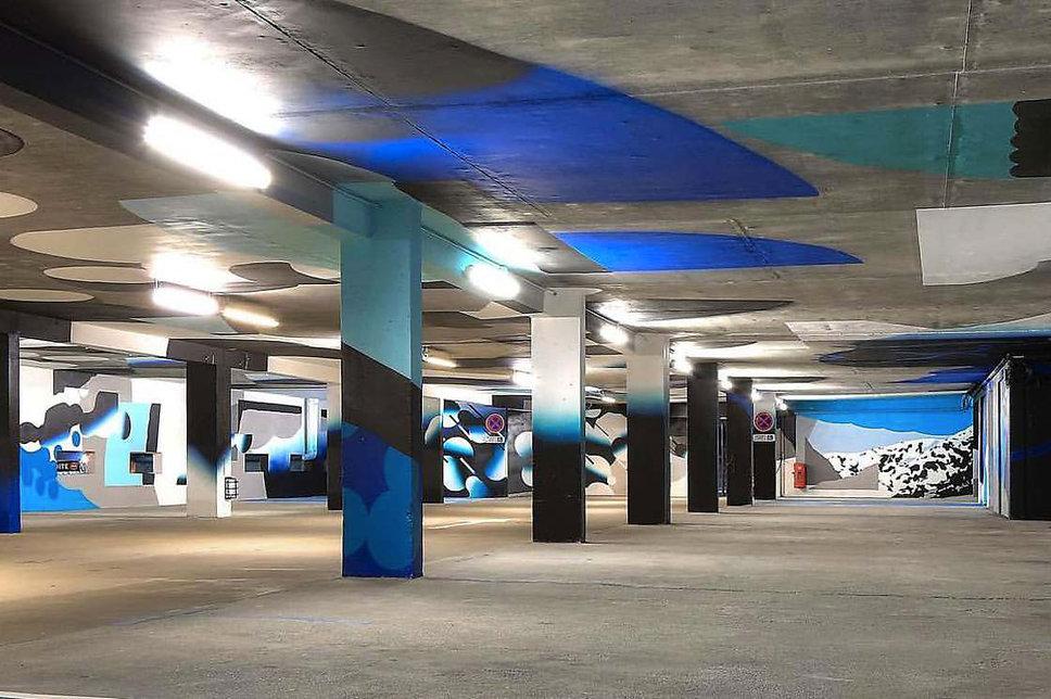 artiste zoer zoerism roids msk peinture curator de la plateforme art contemporain 2km3 saint gervais les bains france 2017