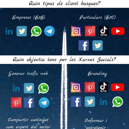 Com escollir la millor Xarxa Social per a la teva marca o negoci (infografia).