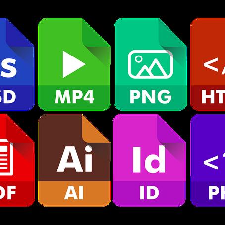 JPG, GIF, SVG, PNG, MP4 i PDF què són? Pros, contres i recomanacions.