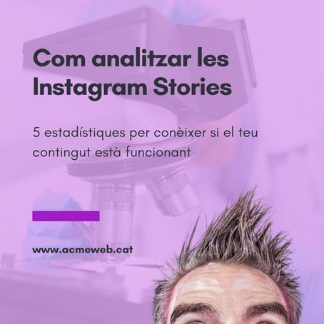 Com analitzar les Instagram Stories