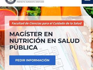 Magíster en Nutrición y Salud Pública. Universidad San Sebastián