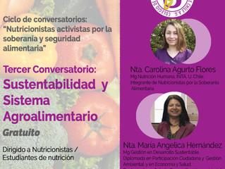 """Tercer conversatorio: """"Sustentabilidad y Sistema Agroalimentarios"""""""