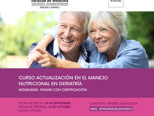 Curso de actualización en el manejo nutrición de geriatría