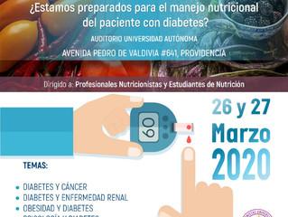 IV Jornada de Nutrición ¿Estamos preparados para el manejo nutricional del paciente con diabetes?