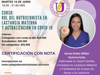 Curso: Rol del nutricionista en lactancia materna y actualización en COVID-19