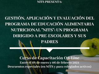 """Gestión, aplicación y evaluación del programa de educación alimentaria nutricional """"NITS"""""""