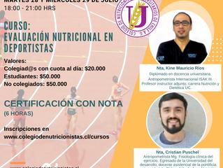 Curso: Evaluación Nutricional en Deportistas