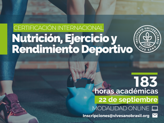 Curso Nutrición, ejercicio y rendimiento deportivo