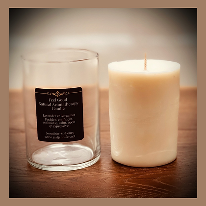 Large 1 Wick Glass Candle Refill